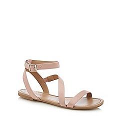 Call It Spring - Natural suedette 'Agroerwen' ankle strap sandals