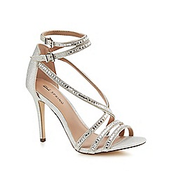 Call It Spring - Silver glitter 'Gaffigan' high stiletto heel ankle strap sandals