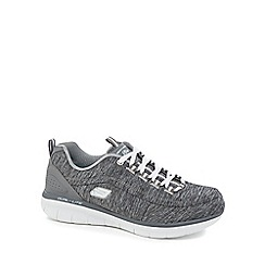 Skechers - Grey 'Synergy 2.0 Headliner' lace up trainers