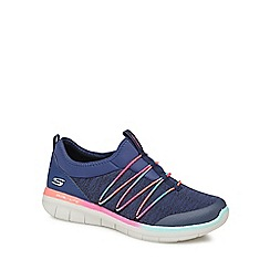 Skechers - Navy knit 'Synergy 2.0 Simply Chic' slip-on trainers