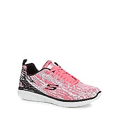 Skechers - Pink knit 'Synergy 2.0 Hi Spirit' trainers
