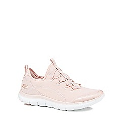 Skechers - Light pink 'Flex Appeal 2.0' slip-on trainers
