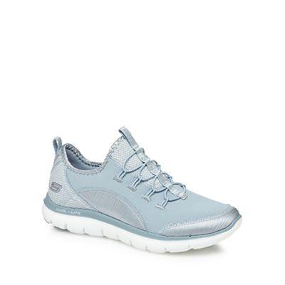 Skechers - Light blue 'Flex Appeal 2.0' slip-on trainers