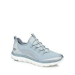 Skechers - Light blue 'Flex Appeal 2.0' slip-on trainers
