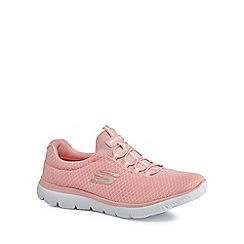 Skechers - Pink 'Summits' slip-on trainers