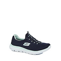 Skechers - Navy 'Summits' slip on trainers