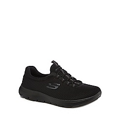 Skechers - Black 'Summits' slip on trainers