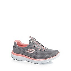 Skechers - Grey 'Summits' slip on trainers