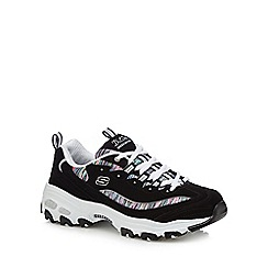 Skechers - Black 'D'Lites Interlude' trainers