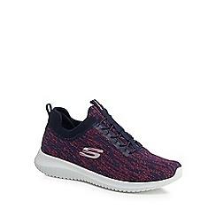 Skechers - Navy knit 'Ultra Flex Bright Horizon' slip-on trainers