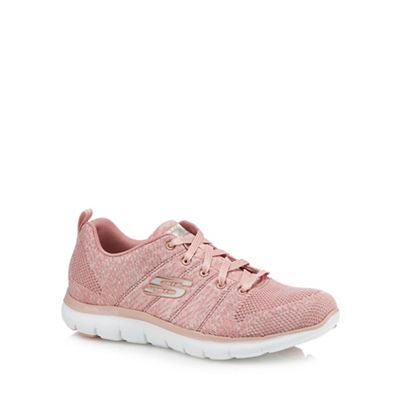 Skechers - Pink knit 'Flex Appeal 2.0 High Energy' trainers
