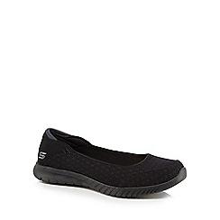 Skechers - Black knit 'Wave Lite' pumps