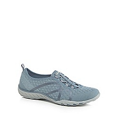 Skechers - Blue 'Breathe Easy Fortune-Knit' slip-on trainers