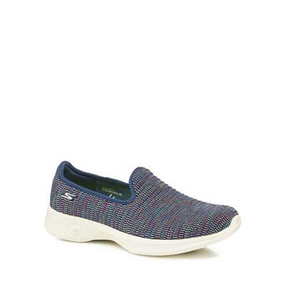 Skechers - Multi-coloured 'Go Walk 4 Select' slip on trainers