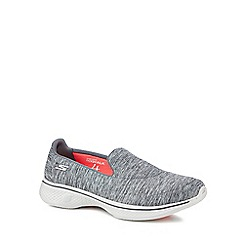 Skechers - Grey 'Go Walk 4 Achiever' slip on trainers