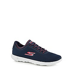 Skechers - Navy 'Go Walk Lite' slip-on trainers