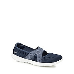Skechers - Navy knit 'Go Walk Lite' slip-on trainers