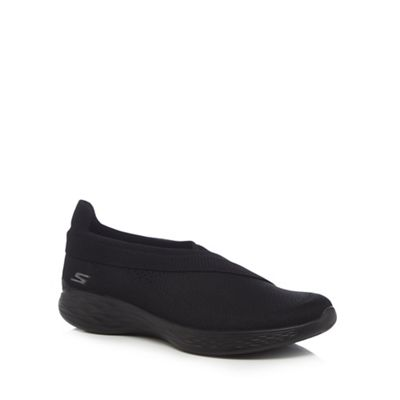 Skechers - Black 'You Luxe' slip on trainers