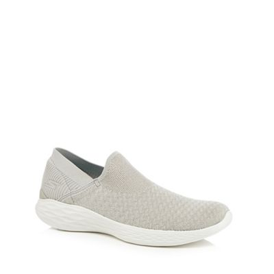 Skechers - Silver 'You' slip-on trainers