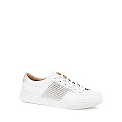 Skechers - White leather 'Moda Bling' trainers