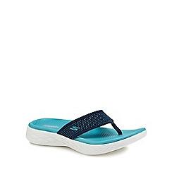 Skechers - Turquoise 'On-The-Go 600' flip flops