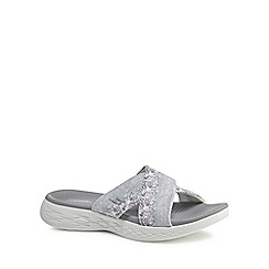 Skechers - Grey 'On-The-Go Monarch' sandals