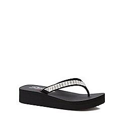 Skechers - Black 'Vinyasa Paradise' flip flops