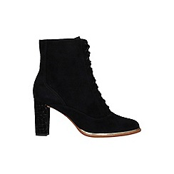 Clarks - Black suede 'Ellis Ida' ankle boots