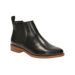 Clarks - Black leather 'Taylor Shine' ankle boots