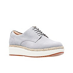 Clarks - Light grey suede 'Teadale Rhea' lace-up shoes