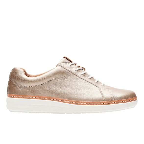 leather Gold Rosa' Clarks trainers 'Amberlee YW4xnnw