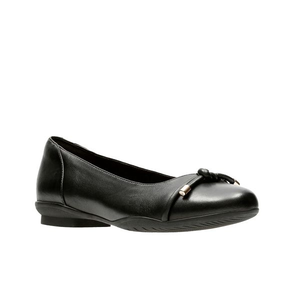 Black Poppy' 'Neenah leather Clarks pumps FxHqCd1Hw