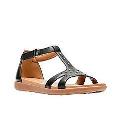 Clarks - Black leather 'Un Reisel Mara' T-bar sandals