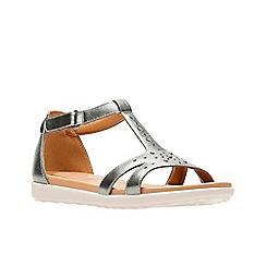 Clarks - Metallic leather 'Un Reisel Mara' sandals