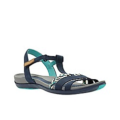 Clarks - Navy nubuck 'Tealite Grace' sandals