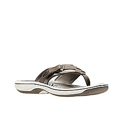 Clarks - Metallic 'Brinkley Sea' sandals