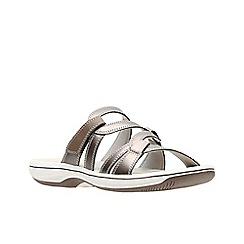 Clarks - Metallic 'Brinkley Lonna' sandals