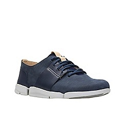 Clarks - Navy leather 'Tri Caitlin' trainers