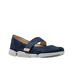 Clarks - Navy nubuck 'Tri Carrie' shoes