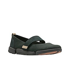 Clarks - Black nubuck 'Tri Carrie' shoes
