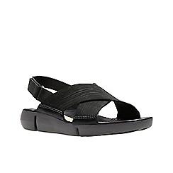 Clarks - Black nubuck 'Tri Chloe' sandals