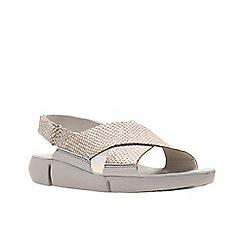 Clarks - Metallic leather 'Tri Chloe' sandals