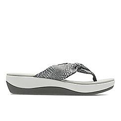 Clarks - Grey 'Arla Glison' mid heel sandals