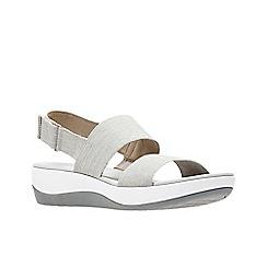 Clarks - Grey 'Arla Jacory' sandals
