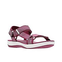 Clarks - Dark pink 'Brizo Cady' sandals