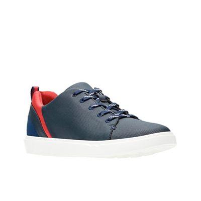 Clarks - Navy 'Step Verve Lo.' lace-up shoes