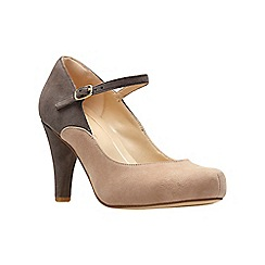 Clarks - Brown suede 'Dalia Lily' high heel shoes