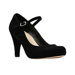 Clarks - Black suede 'Dalia Lily' high heel shoes