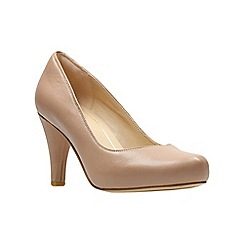 Clarks - Light pink leather 'Dalia Rose' high stiletto heel court shoes