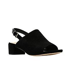 75db1675c Clarks - Black suede 'Orabella Ivy' mid block heel peep toe sandals